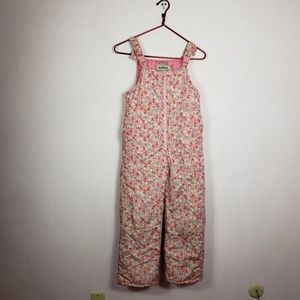 OshKosh Floral Bib Snow Pants Size 10
